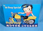 "The '66 Betty Boop Special Oop a Boop Motorcycles 12.5 x 17"" Tin Metal Sign"